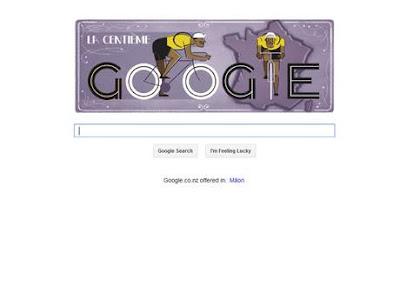 100 th Tour de France - Google Doodle