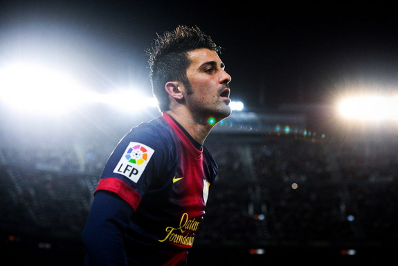 David Villa played 119 times and scored 48 goals in three seasons with Barcelona