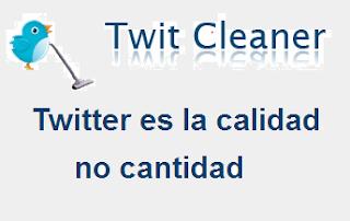 twitcleaner emite un informe sobre los tipos de usuarios en twitter.