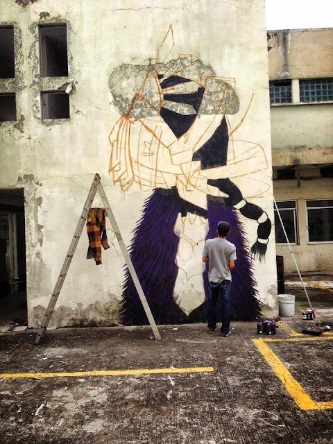 Street Art Mural By Mexican painter Curiot For The proyecto Frágil On The Streets Of Mexico. 4