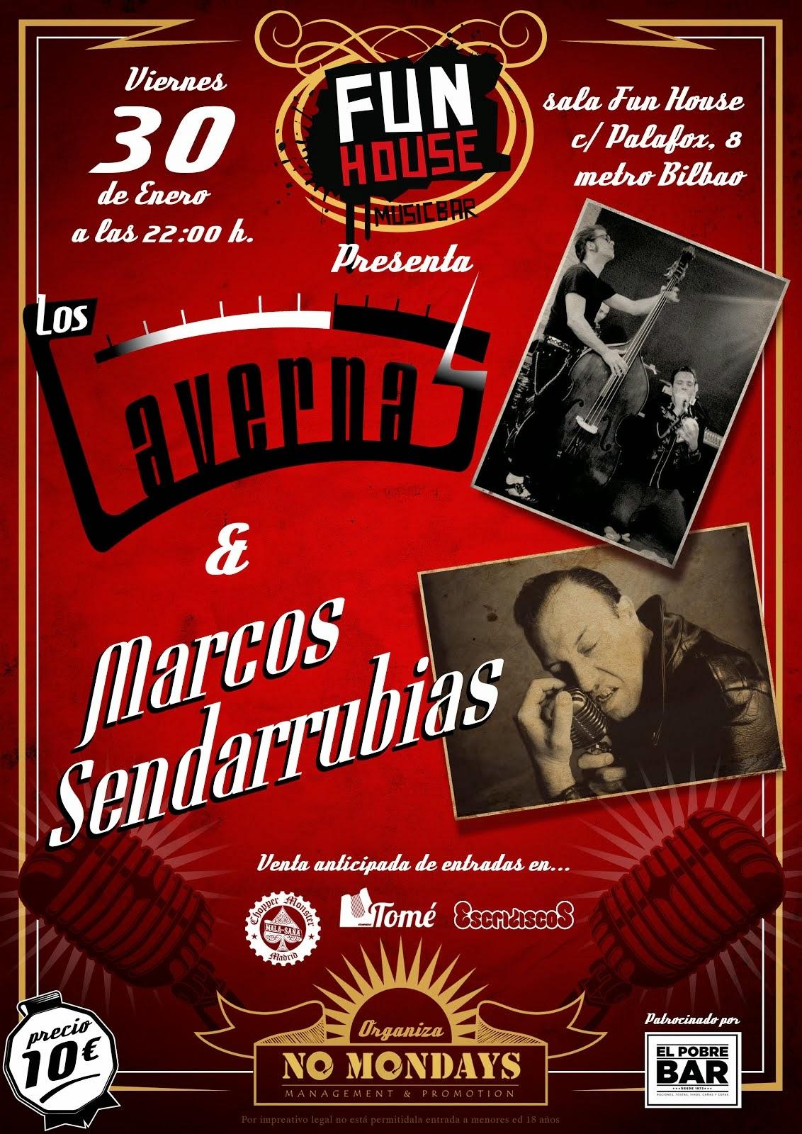 Marcos Sendarrubias + Los Cavernas (30/01/15)