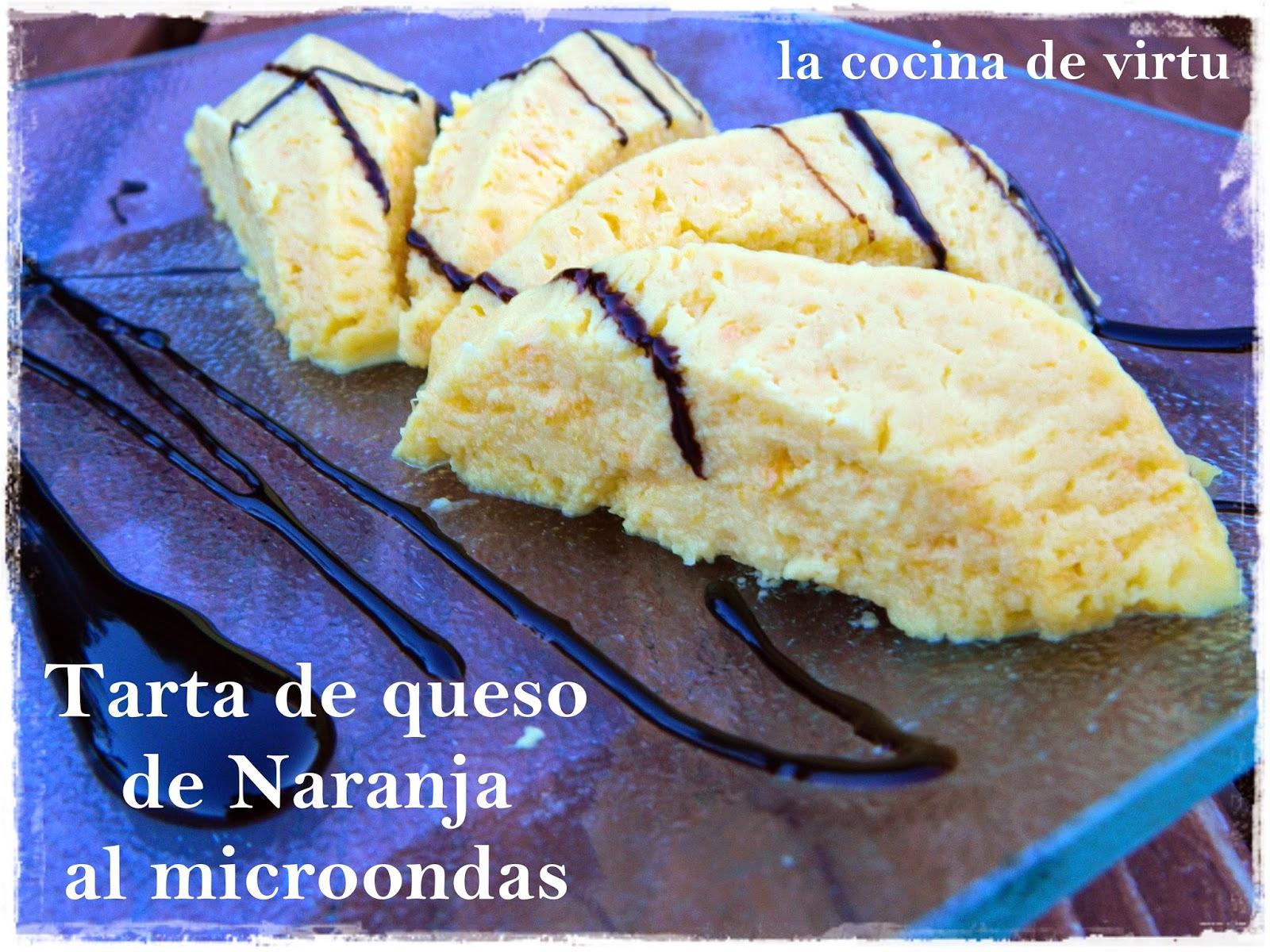 La cocina de virtu tarta de queso de naranja al microondas for Cocina al microondas