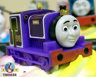 Number 14 rail character from Thomas and friends Charlie the tank engine train cake topper model kit