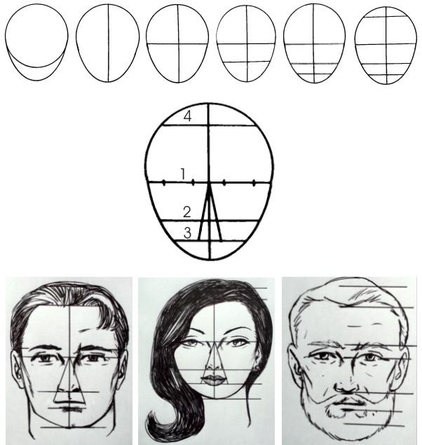 Como Desenhar O Rosto De Frente   Propor    Es