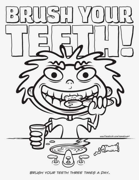 Brushing Teeth Coloring Sheet Coloring Pages Tooth Brushing Coloring Pages