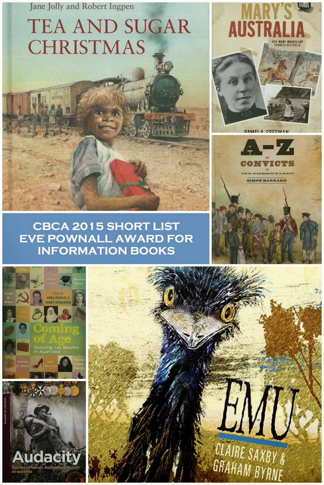 The 2015 Short List for the CBCA Eve Pownall Award for Information Books