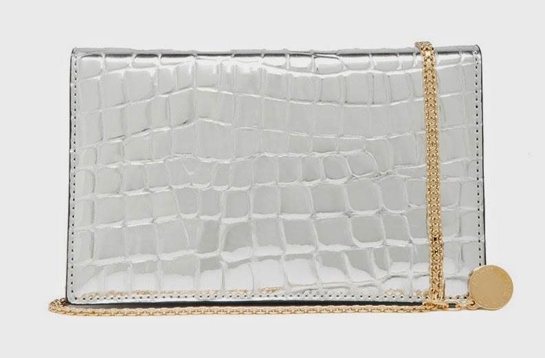 Stella McCartney Silver Croc Shoulder Bag