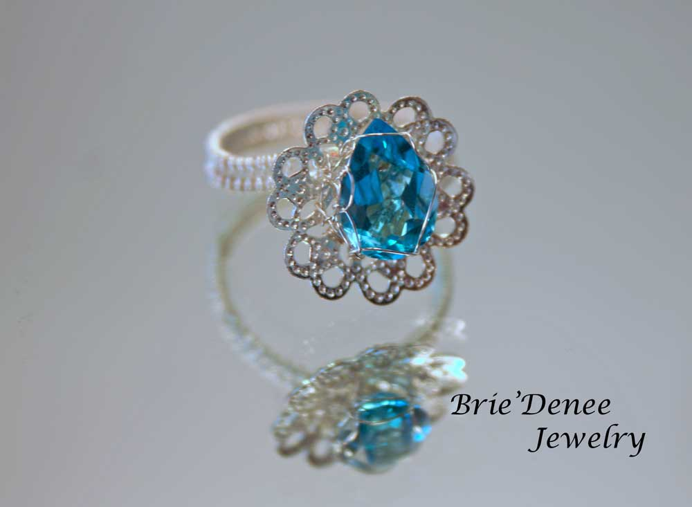Aquamarine Gemstone Facts Blue Aquamarine Gemstone Ring