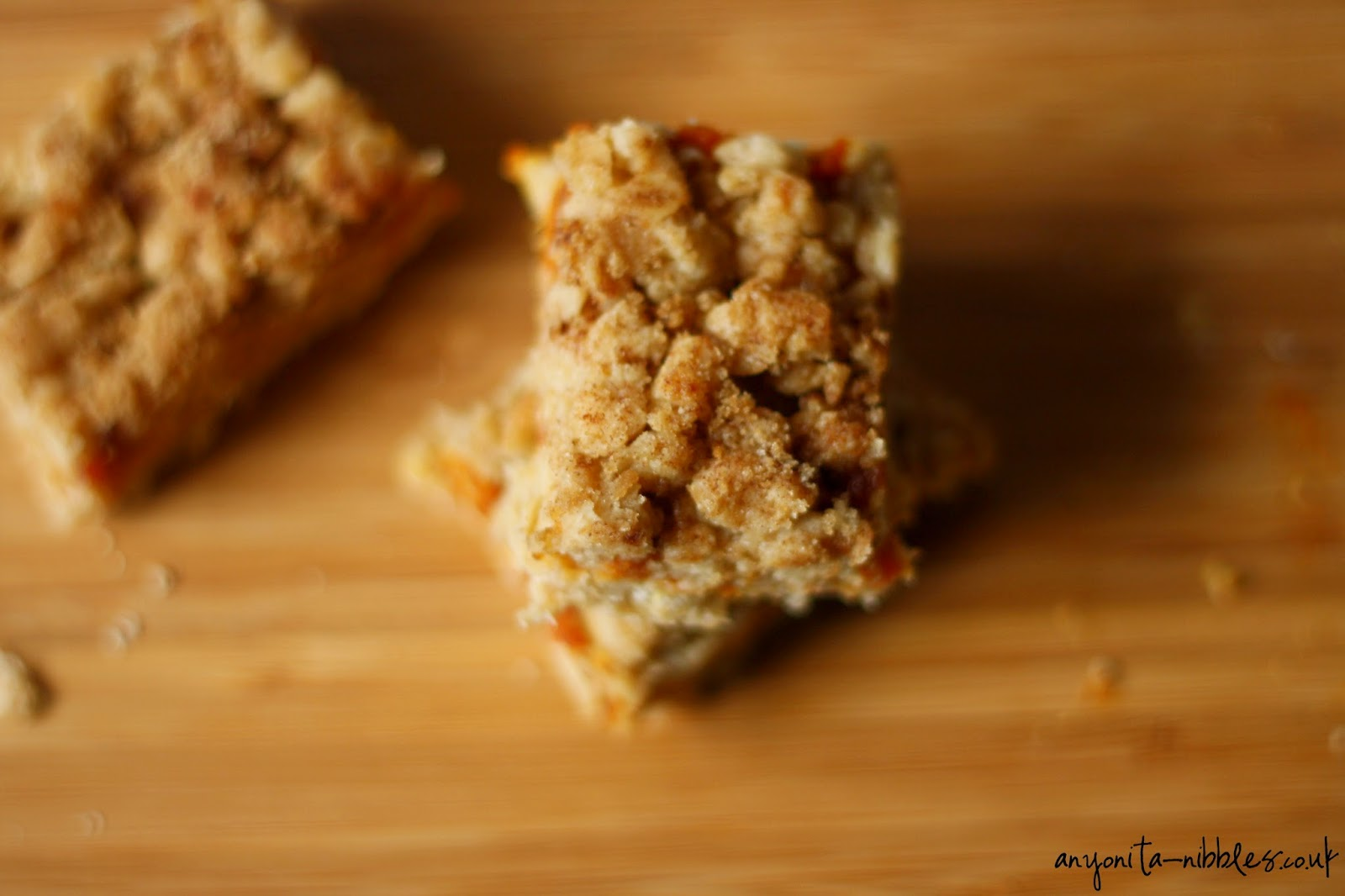 Three gluten free pumpkin oat bars, perfect for Thanksgiving breakfast! From Anyonita-nibbles.co.uk