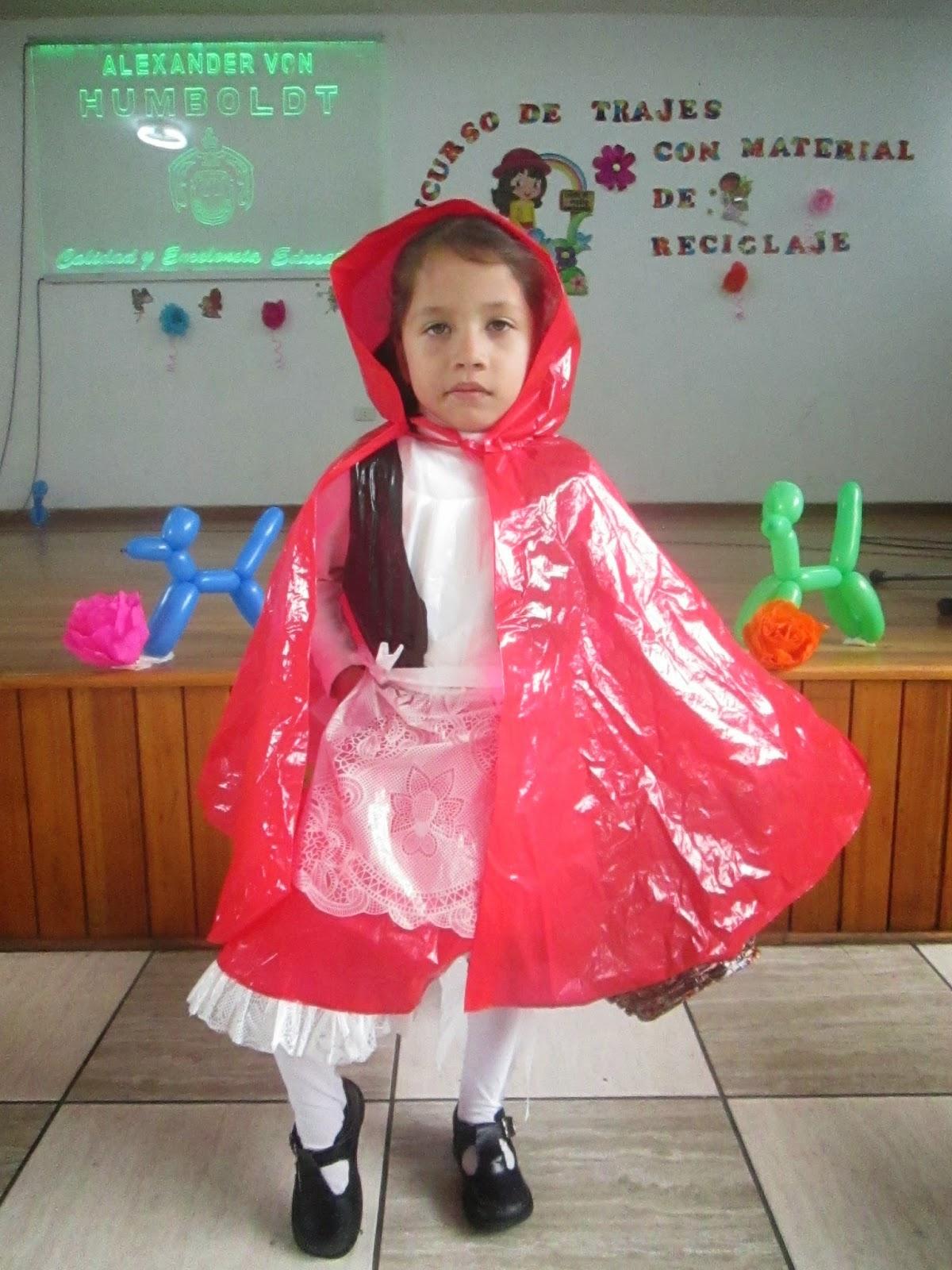 disfraces para ninos hechos en material reciclable