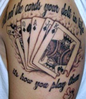 free amazing styles playing cards tattoo designs photos. Black Bedroom Furniture Sets. Home Design Ideas