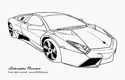 Car with Flames Coloring Pages