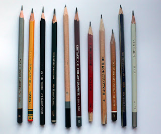 Some pencils of artist Gregory Avoyan