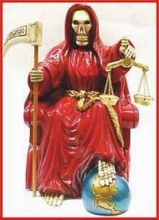 Santa Muerte roja