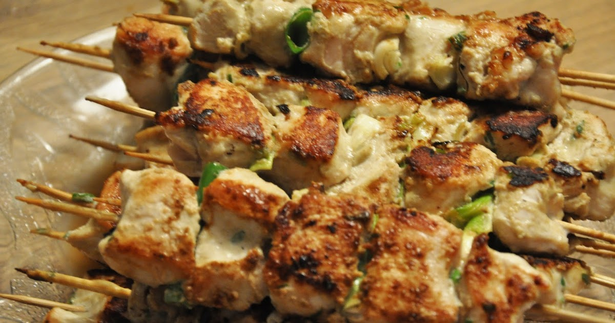 Fire and Food: Thai Green Chicken Curry Kebabs