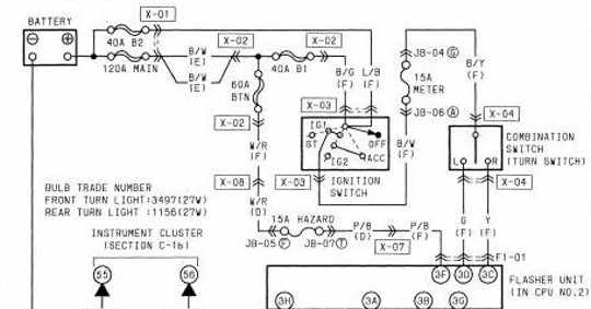 Wiring Diagram For Hazard Warning Lights : Mazda rx turn and hazard warning lights wiring