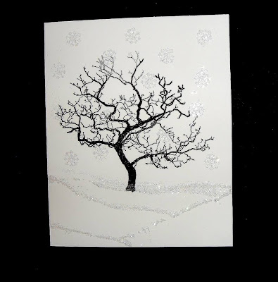 winter tree stamp - visible image stamps