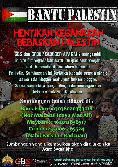 Tabung Gaza, Bantu Palestin, Hentikan Keganasan, Bebaskan Palestin, Hulurkan Bantuan untuk Gaza 2012