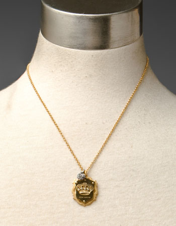Juicy couture crown shield necklace aloadofball Gallery