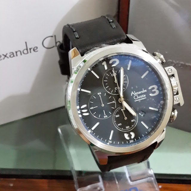 jam tangan alexandre christie 6280 silver black