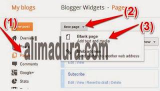 Cara-membuat-contact-form-di-Halaman-Blog
