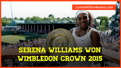 Serena Williams won Wimbledon Crown 2015