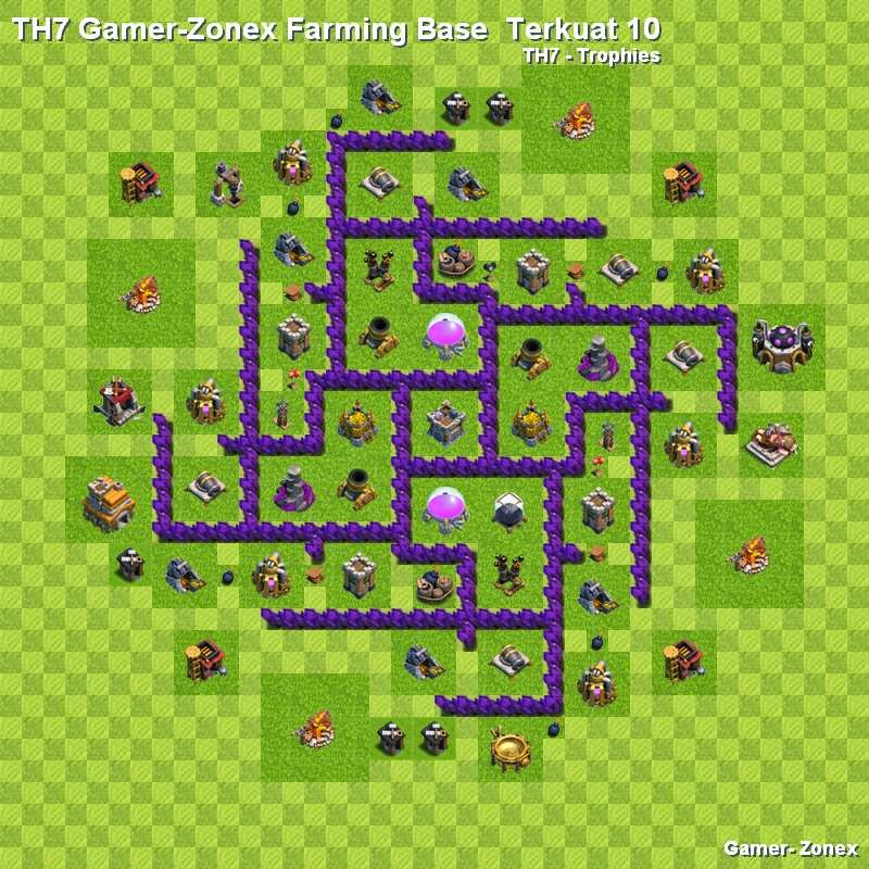 TH7 Gamer-Zonex Farming Base  Terkuat 10