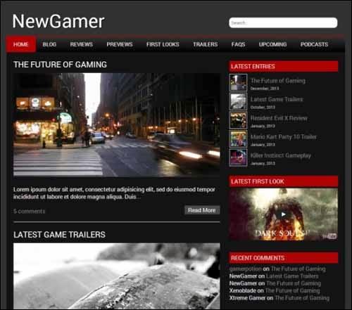 NewGamer Free WordPress Theme