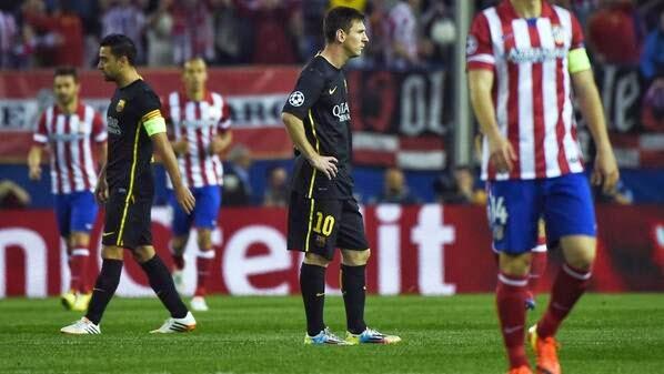 Messi en el medio campo