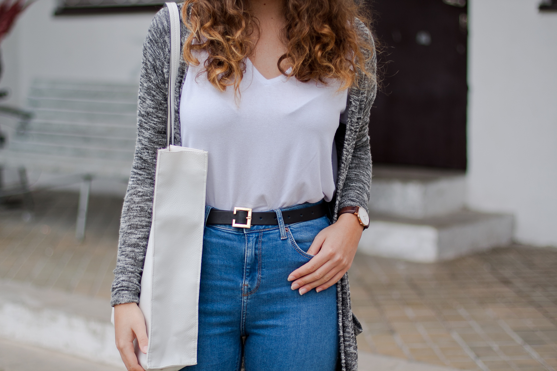 spodnie jeansy topshop jamie z zalando