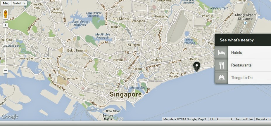 East Coast Park Singapore Location Map – East Coast Tourist Attractions Map