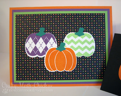 Pumpkin Trio Card created by Crafty Math Chick | Pick a Pumpkin by Newton's Nook Designs