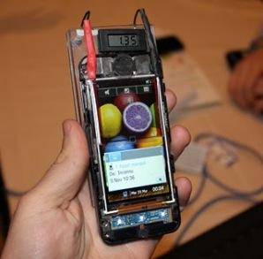 Telefon pintar yang cas semula sendiri