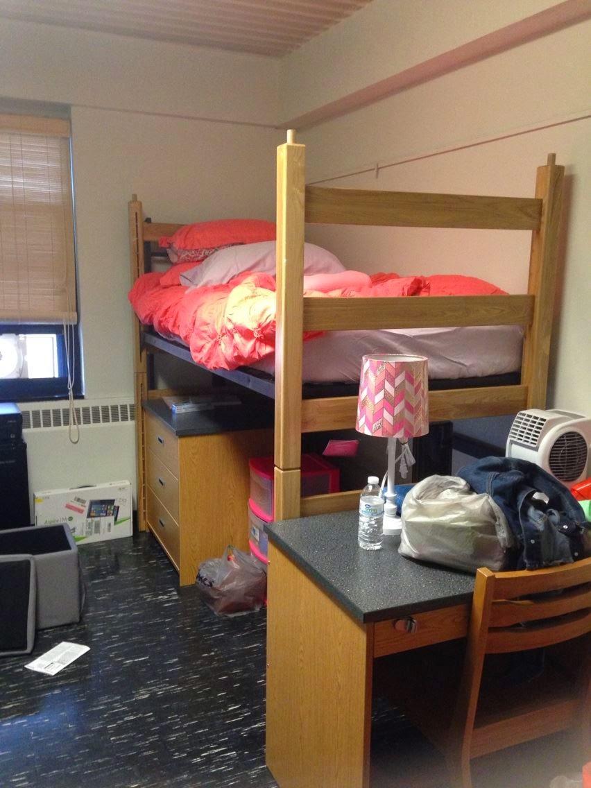 Pink Dorm Room
