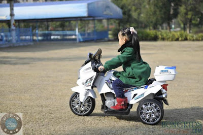 Xe máy điện trẻ em 8815 - Xe cảnh sát 2 động cơ