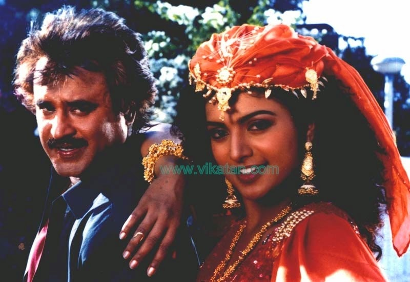 'UZHAIPPALI' RAJINIKANTH WITH ROJA
