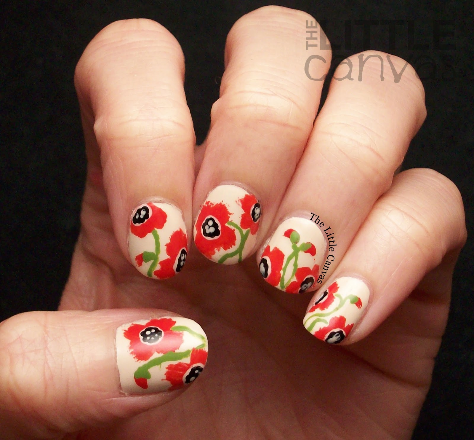 Poppy Nail Art For Memorial Day The Little Canvas