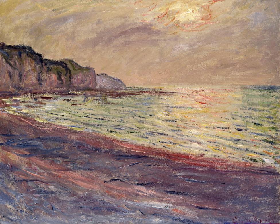 La Plage à Pourville, Soleil Couchant (1882)