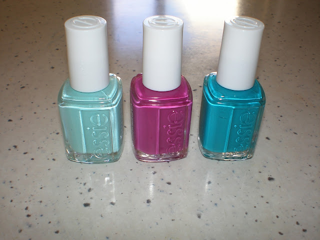 Left to Right: Essie Blossom Dandy, Flowerista and Garden Variety