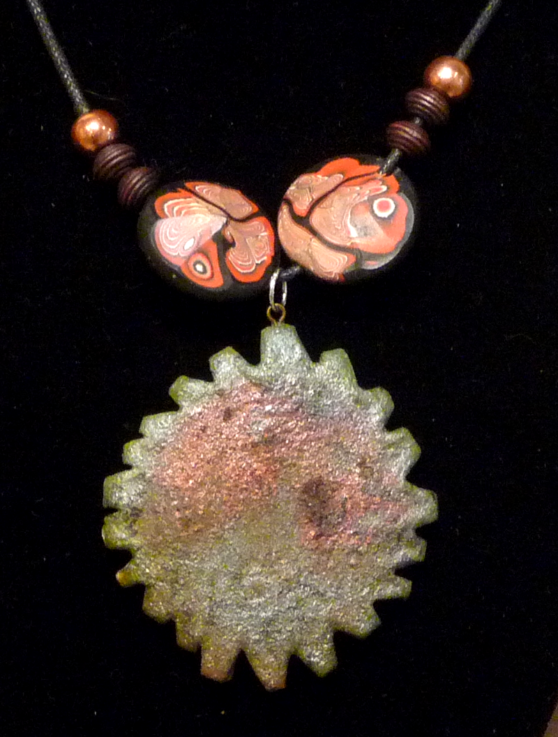 Art tiles by mark herrling raku pendant necklace aloadofball Gallery