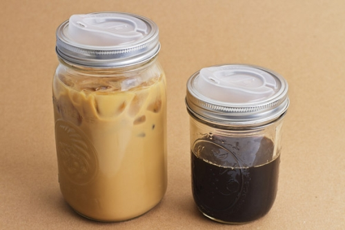 two ball jars with the lids installed