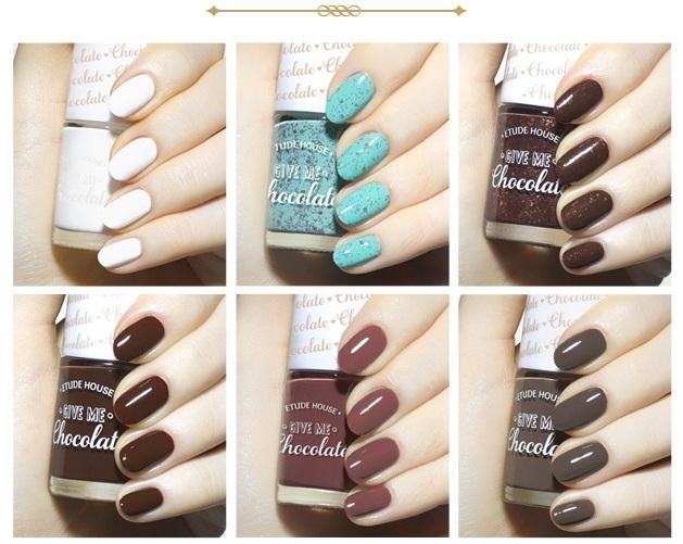 Etude House Give Me Chocolate nail polishes