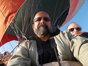 """On the """"Saray Hot Air Balloon"""" ride in Goreme."""