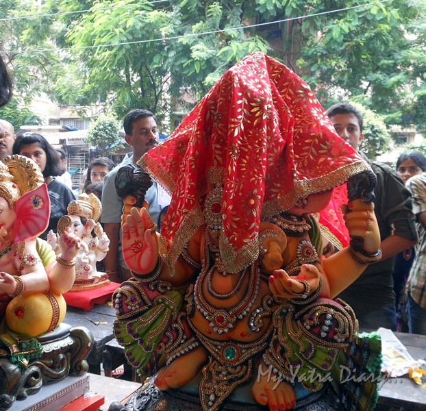 Ganesha on day 1 of Ganesh Chaturthi Festival, Mumbai