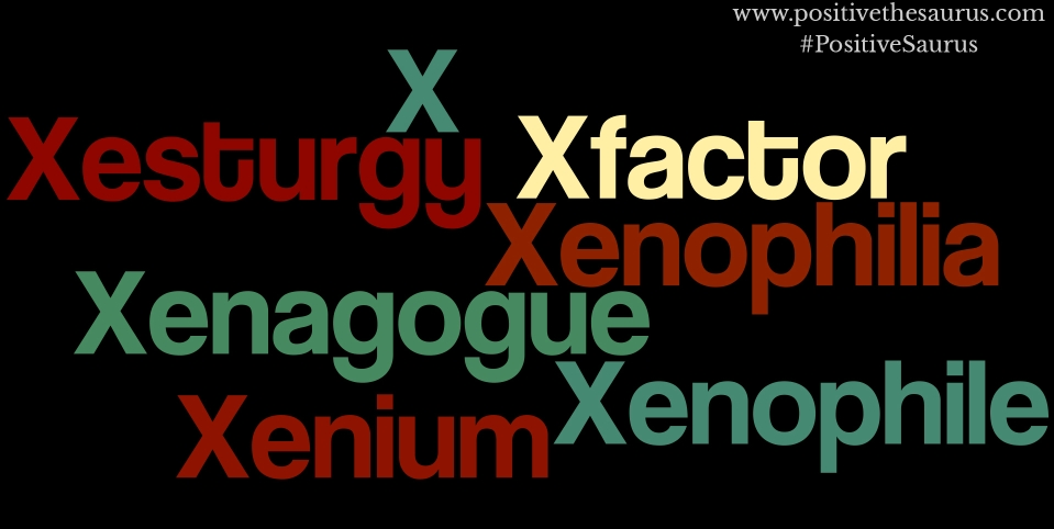 positive nouns that start with x