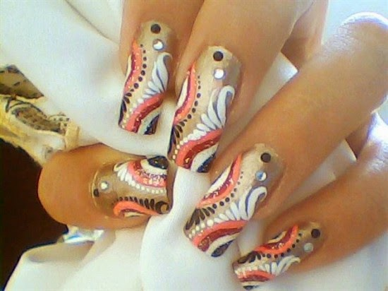 Stylish nail designs 2015httpnails sidespot latest nail art design for christmas 2014 new year 2015 prinsesfo Images