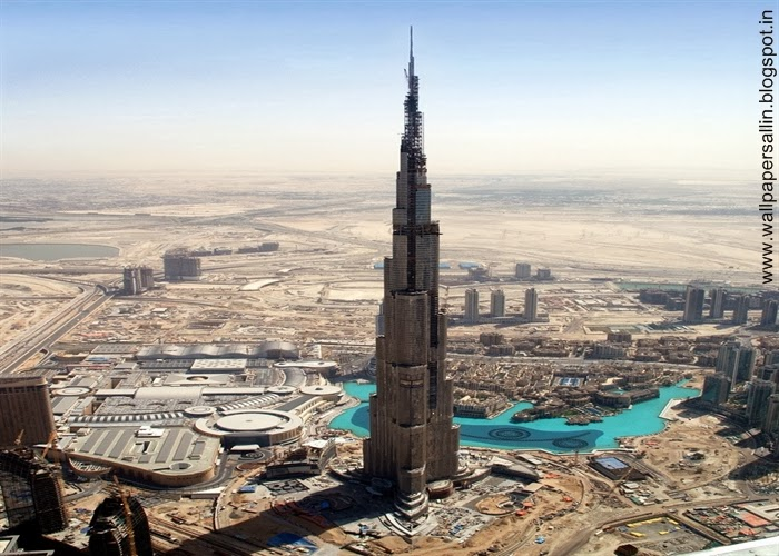 full view of burj khalifa dubai
