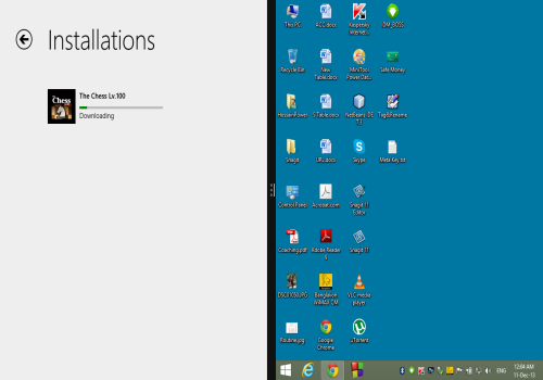 keep two window both in desktop in windows 8.1