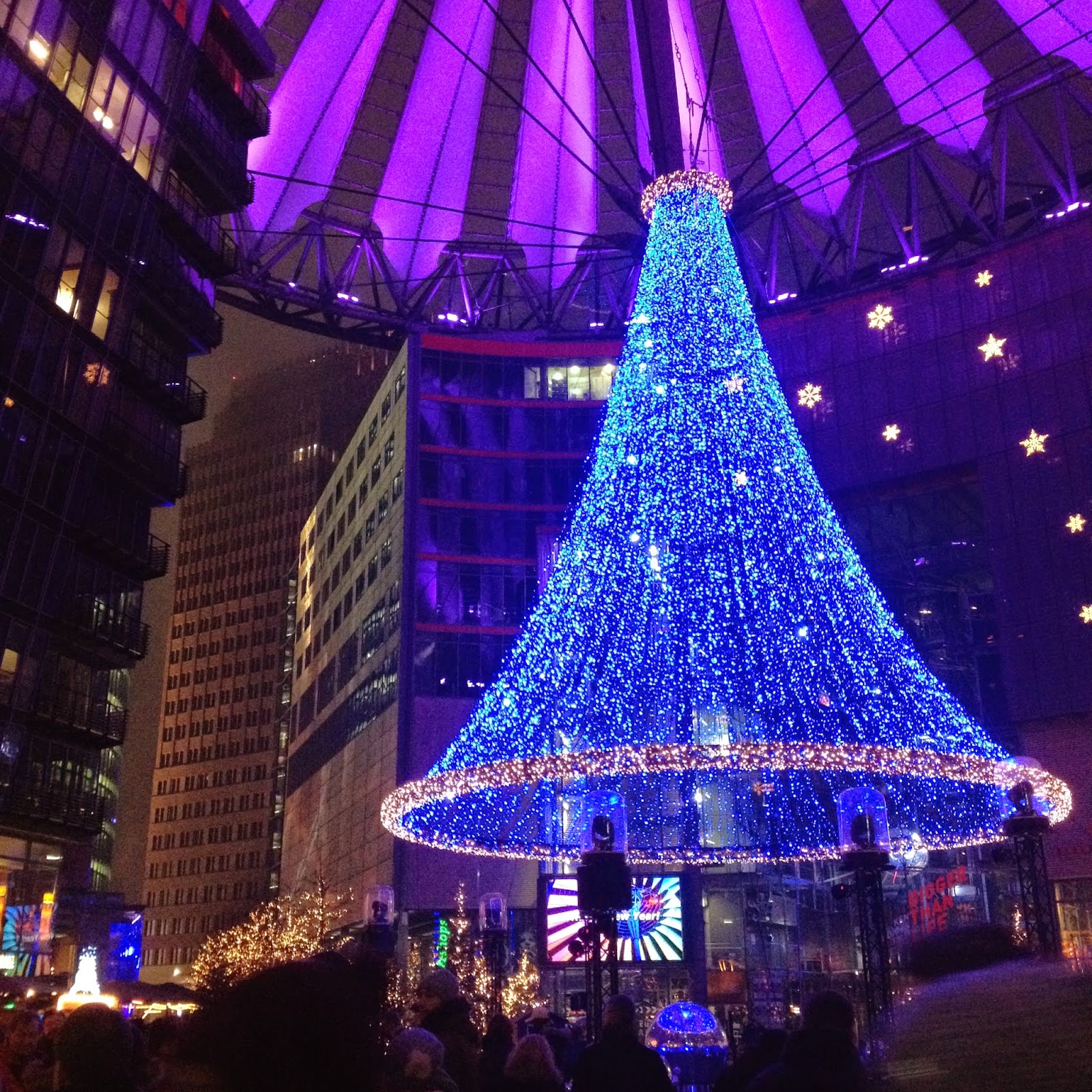 LED Christmas Tree at Sony Center, Berlin