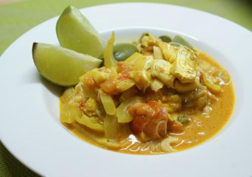 ryba w sosie curry
